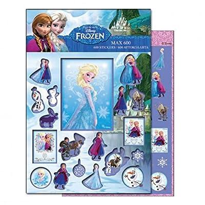 GUIZMAX 600 Pegatinas Frozen Disney Niño de GUIZMAX