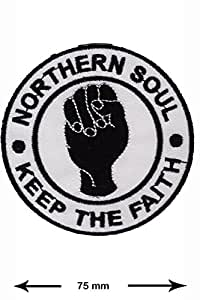 Patches - Northern Soul - Keep the Faith - MusicPatches - Applique embroidery - Écusson brodé