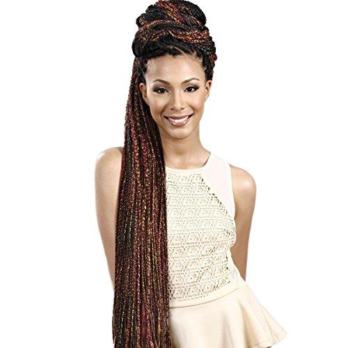 Bobbi boss - treccine africane x-pro 88 jumbo realizzate con capelli sintetici, 220 cm