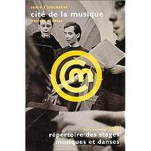 Répertoire des stages musiques et danses, juin - novembre 1996