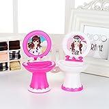MAJGLGE - Mueble de baño en Miniatura de plástico para casa de muñecas de Barbie, Juguete para niños, Color al Azar