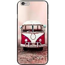 Old Camper Van carcasa rígida para teléfonos móviles, plástico, Old Red Camper Van, Apple iPhone 6 PLUS