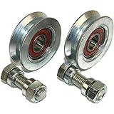 (V58-12) - Lote de 2 ruedas para puerta corredera (polea y