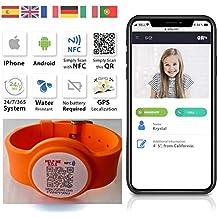 e1c348c88eae QR4g.com GPS  Pulsera ajustable identificativa con Tecnología QR NFC GPS  para Niños y