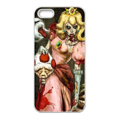 Zombie Princess étui de protection en silicone et TPU Étui avec Screen Protector, Mobile Phone Case Back Cover pour Iphone 5S Blanc Noir for iPhone 55S (White/Black)
