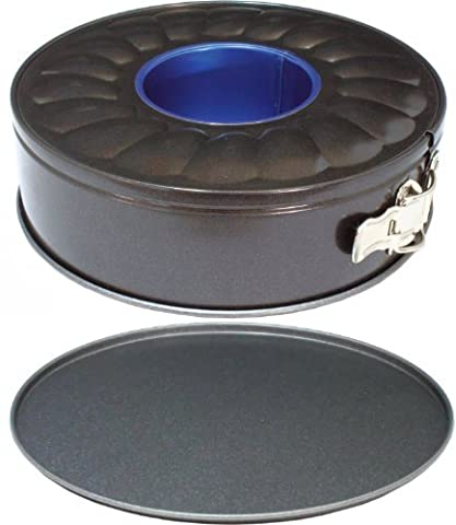 Ring Tube Springform Cake & Bread Tin Set for Professional Baking, 9 Inch (22.5cm) Double Base Pan with GlideX Non-Stick ® ™ by Lets