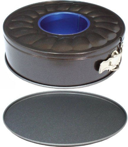 Ring Tube Springform Cake & Bread Tin Set for Professional Baking, 9 Inch (22.5cm) Double Base Pan with GlideX Non-Stick ® ™ by Lets Cook Cookware ® ™
