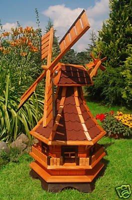 Wunderschöne große Windmühle aus Holz