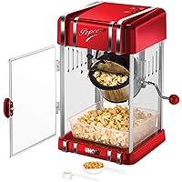 300 W // 100 s, Menge Mais 57 g, Teflonbeschichtung, inkl. Messl/öffel, 28,5 x 32,5 x 46 cm Bredeco BCPK-300-WR Popcornmaschine Popcornmaker Rot Retro-Design