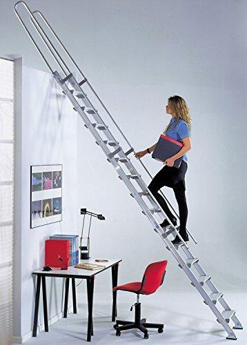 Echelle de meunier aluminium: marches de 15cm