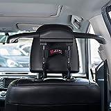 FMS Auto Kleiderbügel und 2 Autositz Zurück Haken Autokleiderbügel für Kopfstütze für Kleiderbuegel Kleidung Anzuege Jacke Shirts Kleiderbügel Schwarz (Schwarz)