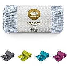 Lotuscrafts Yoga Handtuch - Wet Grip - Antirutsch Yogatuch mit hoher Bodenhaftung - ideal für Hot Yoga - 183 x 61 cm - hautfreundlich und saugfähig