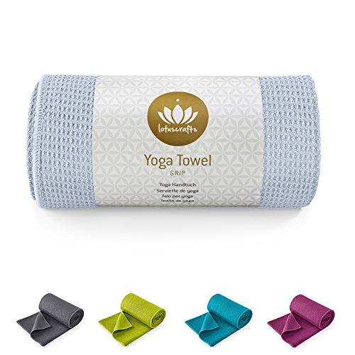 Lotuscrafts Yoga Handtuch Wet Grip - Rutschfest & Schnelltrocknend - Antirutsch Yogatuch mit hoher Bodenhaftung - Yogahandtuch ideal für Hot Yoga [183 x 61 cm]