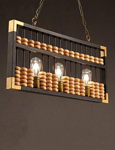 Hyw lampadario retrò cinese antiquariato in legno abaco lampadari personalità creativa americana rurale caffé lampadario -retro industriale vento lampadario
