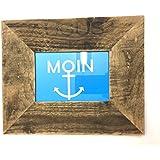 Bilderrahmen 10x15 cm aus Holz von alter Obstkiste handgemacht. Geschenk für Hochzeit, Taufe, Kommunion, Geburtstag, Weihnachten, Konfirmation, Muttertag etc.