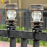 LanLan 2pcs LED rétro éclairage Solaire Paysage de Jardin Lanterne Suspendue Lumière Chaude