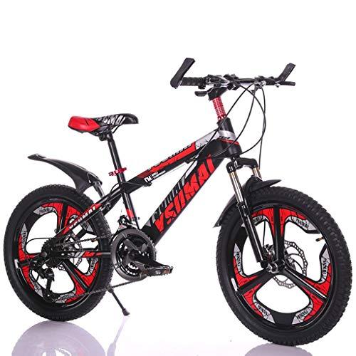 Kinderfahrräder Fahrräder Junge Fahrrad Rotes Fahrrad Kinder Sommer Reiten Roller Geeignet 6-15 Jahre Alter Student 18/20 Mountainbike (Color : Red, Size : 18inch)