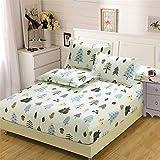 YEHAOFEI Bett mat Cover aus Baumwolle, einteiliger Bett mat Cover aus Baumwoll-Twill, antiallergisch, Anti-milben E-038 100 * 200cm
