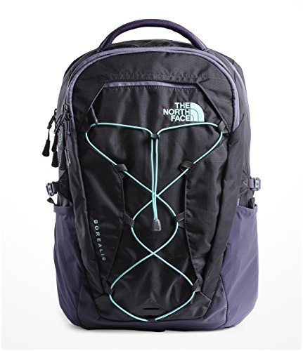 The North Face Women's Borealis Backpack - Grey Stone Blue Ripstop & Mint Blue - OS