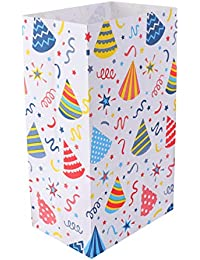 TOYANDONA 24 Unids Colorido Bolsa de Regalo de Papel Kraft Tamaño Mediano Regalo Bolsas de Embalaje Almuerzo Bolsas de Papel de Fondo Plano Favor de Fiesta Envuelto Contenedor de