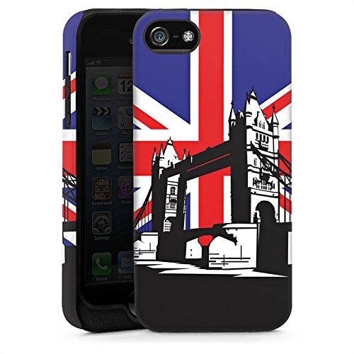 Apple iPhone 4 Housse Étui Silicone Coque Protection Londres Grande-Bretagne Tower Bridge Cas Tough brillant