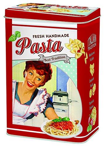Nostalgia estaño cuadro fideos de pasta cuadro pasta retro vintage Vorratsdose