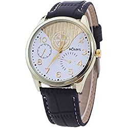 Unisex Wrist Watch - HUANS Unisex Women Men Classic Business Charming Analog Quartz Wrist Watch Black Band+White Dial