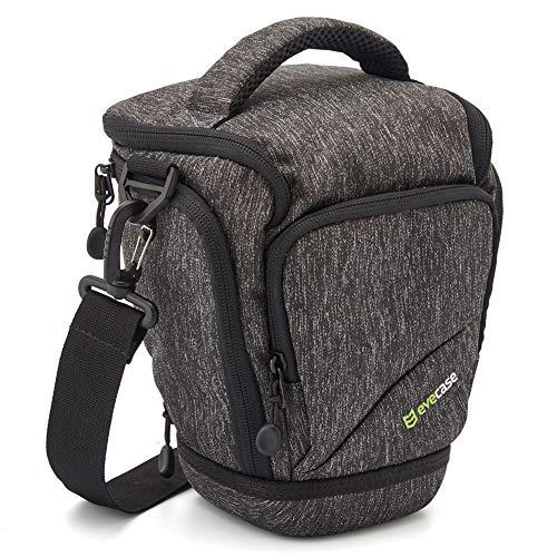 Evecase Wasserdicht SLR-Schultertasche Kameratasche mit Schultergurt für Canon Nikon DSLR- und Systemkameras - Grau