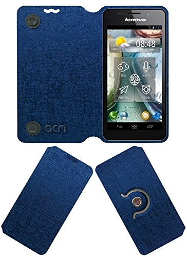 Acm Designer Rotating Flip Flap Case for Lenovo P770 Mobile Stand Cover Blue  available at amazon for Rs.399