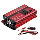 CAPTIANKN 350W Power Inverter, DC 12V bis 220V Konverter mit 1 Universal-Wechselsockel und 4 USB-Ports,24vto220v