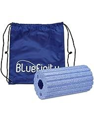 Bluefinity Massagerolle mit Rillen, Selbstmassagerolle 29 cm lang, 15 cm Durchmesser, für Faszientraining, gegen Verspannungen, Faszienrolle zur Selbstmassage, verschiedene Farben