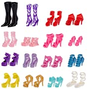 Sharplace Scarpa Sandalo Appartamenti Cerniera Caviglia Elegante Moda Per Bambola Accessori 18