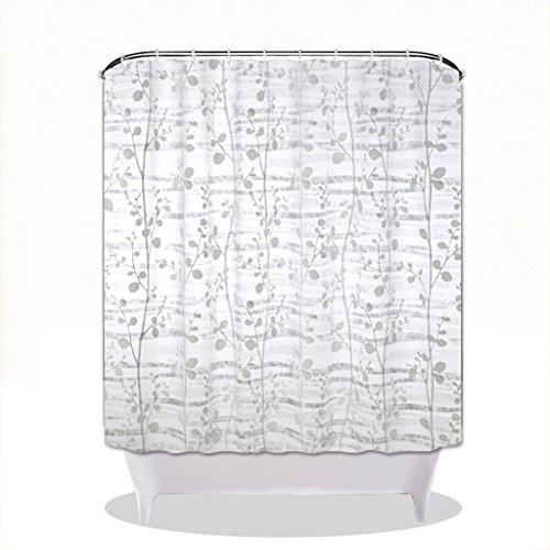 Rideaux de douche Rideau de douche PEVA matériel étanche salle de bains protection de l'environnement confortable accrochant (taille : 150×180CM)