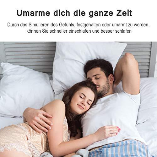 COSTWAY Gewichtsdecke für Erwachsene und Kinder | Schwere Decke Baumwolle | Weighted Blanket Grau (104 x 153 cm, 3) - 2