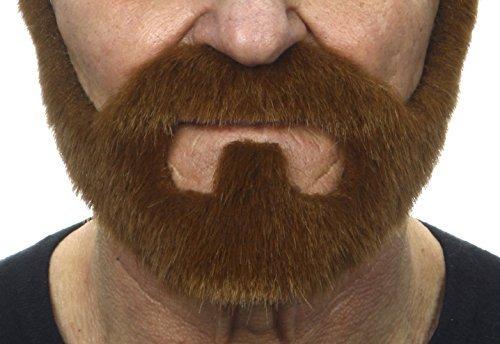 ende Neuheit On Bail Fälscher Bart Falsch Gesichtsbehaarung Kostümzubehör für Erwachsene Ingwer Farbe ()