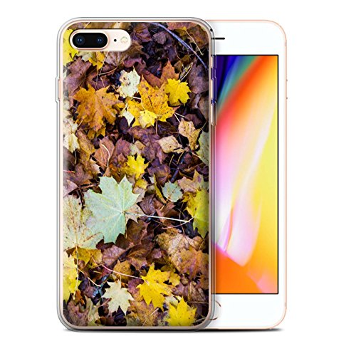 Stuff4 Gel TPU Hülle / Case für Apple iPhone 8 Plus / Hängenden Ast Muster / Herbst Saison Kollektion Laub