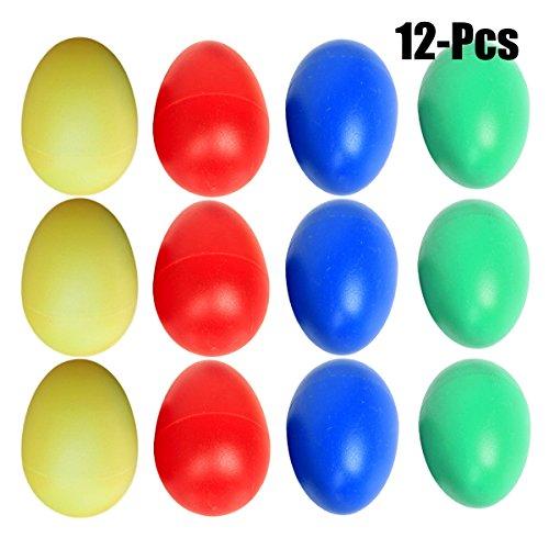 Oeuf Shaker, Funpa 12 Pcs Enfants Oeufs Jouet ÉDucatifs Coloré En Plastique Percussion Oeufs Musical Puzzle Jouets