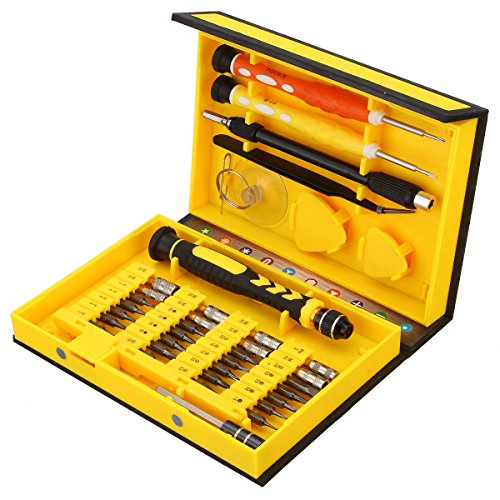 MECO Screwdriver Set,Precision 38 in 1 Repair Tools Kit Screwdriver Hand Tools Kit, Able to Repair Open Fix iPhone Laptop Smartphone MacBook Xbox Watches Glasses with Portable Case Test