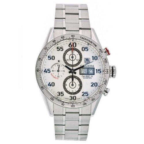 TAG Heuer CV2A11.BA0796 - Reloj para hombres, correa de acero inoxidable color plateado
