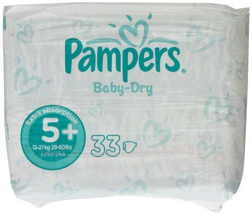 Pampers Baby Dry Größe 5 + (13-27kg) Jumbo Pack 66 pro Packung