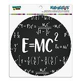 E = mc 2Energie Mass Gleichung Albert Einstein Theorie der speziellen Relativitätstheorie Mathematische Automotive Car Kühlschrank Locker Vinyl Kreis Magnet