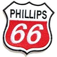 PHILLIPS 66 Motor Oil Gasoline Gas Station Pump Car Motogp Motorcorss Racing Biker Logo motorcycle boots helmets Patch Embroidered Badge Cloth Sign Costume Gift by Large husky patches