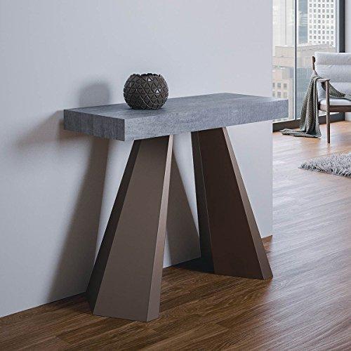 Group design consolle diamante in legno cemento l.90 p.40 h.77 fino a 300cm