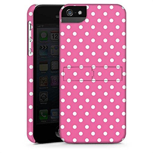 Apple iPhone 6 Housse Étui Silicone Coque Protection Points Rose vif Polka CasStandup blanc
