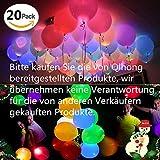 20 LED leuchtende bunte Luftballons 24 Stunden Leuchtdauer für Party Geburtstag Hochzeit Festival Weihnachten Ostern
