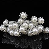 OverDose 20PCS Wedding Bridal Pearl Flower Crystal Hair Pins Clips Bridesmaid