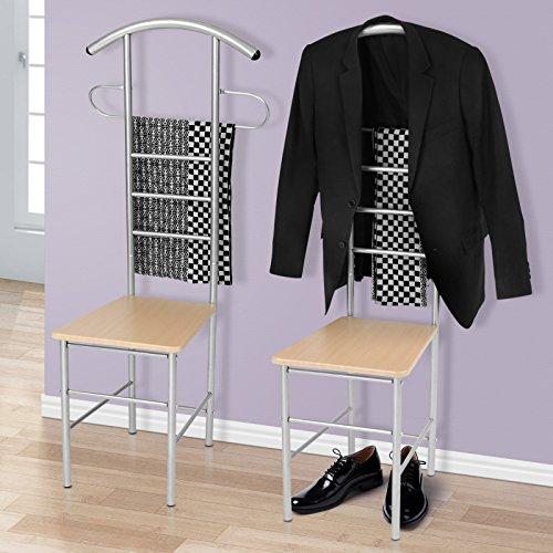 Miadomodo Garderobenstander Kleiderablage Stummer Diener Kleiderstander aus Metall (ca. 51,544,5120 cm) in zwei Sets