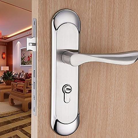 vanme sobre el nuevo estilo europeo rodamientos de acero inoxidable puerta manija para el dormitorio Interior cerradura de latón