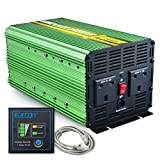 Generic 2000W Power Inverter DC 24V to 230V AC with Remote - Green