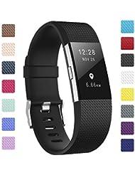 Fundro Für Fitbit Charge2 Armband, Weiches Verstellbare Silikon Sports Ersatz Armbänder für Fitbit Charge 2 Klein & Groß Damen & Herren
